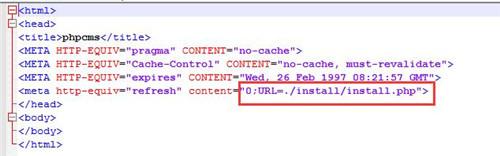 本地安装PHPCMS后首页访问不了